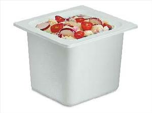 "1/6 SIZE 6"" DEEP COLD FOOD PAN WHITE"