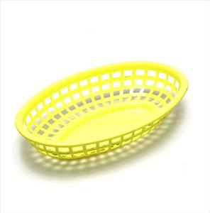 YELLOW OVAL PLASTIC BASKET