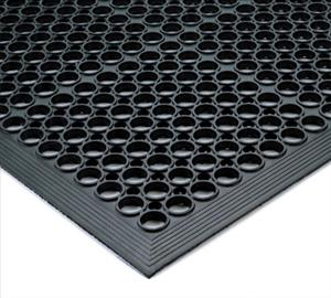FLOOR MAT 3' X 5' BEVEL EDGE BLACK